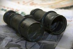 Antique binoculars Royalty Free Stock Photo