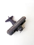 Antique biplane toy model Royalty Free Stock Photo