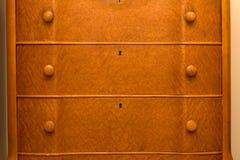 Antique bird's eye maple dresser drawers Royalty Free Stock Photography