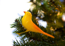 Antique Bird Tree Ornament Royalty Free Stock Photography