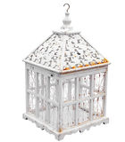 Antique Birdcage. Isolated with clipping path Stock Photo