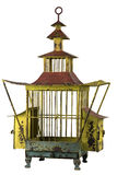 Antique Birdcage 2. Old antique metal Asian birdcage Royalty Free Stock Photo