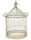 Antique Birdcage. Isolated with clipping path Royalty Free Stock Photos