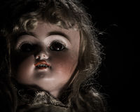 Antique 1887 Bisque Doll Royalty Free Stock Photos