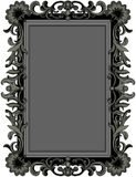 Antique Black Frame. Illustration of antique black frame Royalty Free Stock Photo