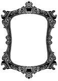 Antique black frame illustration. Antique black isolates ancient frame structure illustration Stock Photos