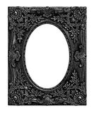 The antique black frame on the white Royalty Free Stock Photos
