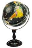 Antique black globe isolated on white Royalty Free Stock Image