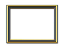 Antique black and golden vector frame Royalty Free Stock Image