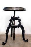 Antique black iron chairs Stock Photos
