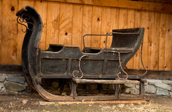 Antique black sleigh Royalty Free Stock Photos