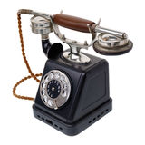 Antique black telephone Royalty Free Stock Photography