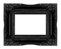 Antique black  wooden picture frame Royalty Free Stock Photos