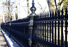 Antique Black Wrought Iron Fence Stock Images