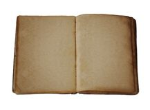 Antique Blank Open Book Stock Photography