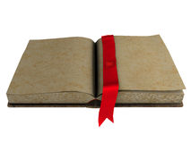 Antique blank open book royalty free stock photo