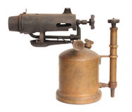 Antique blowtorch Stock Images