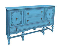 Antique blue buffet isolated. Royalty Free Stock Photos