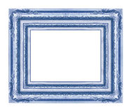 Antique blue frame isolated on white Stock Photography