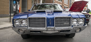 Antique blue Oldsmobile Royalty Free Stock Photos