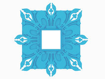Antique blue  picture frame isolated Royalty Free Stock Photography