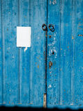 Antique blue wooden door. Royalty Free Stock Photos