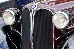 Antique BMW 315 car front view, detail Royalty Free Stock Images