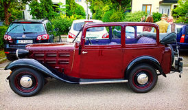 Antique BMW car at Garching traditional parade Royalty Free Stock Photography