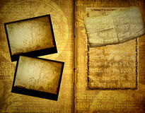 Antique book. Details of a yellowish, aging, antique book royalty free stock photography
