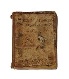 Antique Book. An antique (nineteenth century) closed book Stock Photography