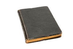 Antique book. Black antique book isolated on white Royalty Free Stock Photo