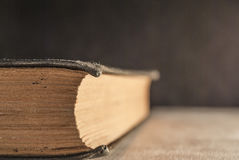 Antique book close up Royalty Free Stock Photography