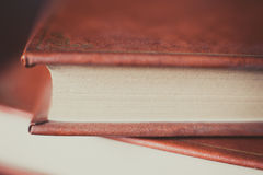 Antique book detail, pages and cover Stock Photos