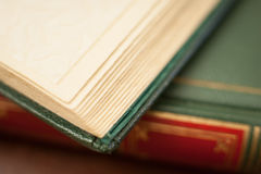 Antique book leather cover detail royalty free stock photo