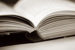 Antique book open  Stock Images