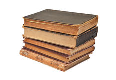 Antique book stack Royalty Free Stock Photos
