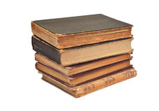 Antique book stack Stock Photography
