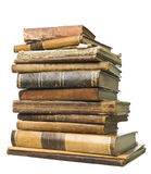 Antique Books. Stack of antique books isolated on white background Royalty Free Stock Images