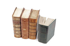 Antique books. Isolated on a white background Royalty Free Stock Images