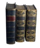 Antique Books. As they would sit on a shelf Stock Images