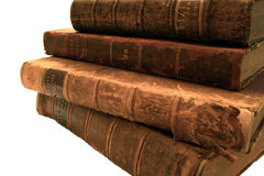 Antique Books. Stack of vintage books from the 1700's and 1800's Stock Photo