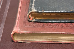 Antique books. Corner of Antique books like background Stock Image