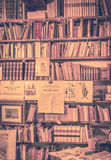 Antique books in antiquarian bookshop Royalty Free Stock Images