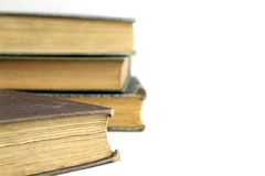 Antique Books. Beautiful antique books isolated on white background Royalty Free Stock Photos