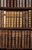 Antique Books on Bookshelf Royalty Free Stock Image