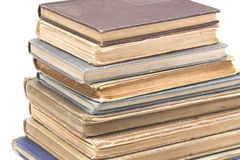 Antique Books Close-up. A close-up of a stack of antique books Stock Photo