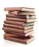Antique books. Isolated on white Stock Image