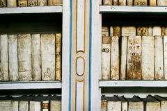 Antique Books in the Strahov Monastery Stock Photography