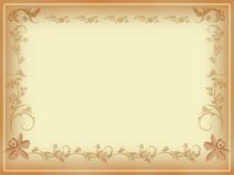 Antique Border or Note Card Royalty Free Stock Photography