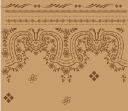 Antique border pattern Stock Image